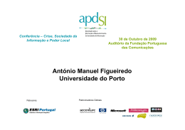 António Manuel Figueiredo Universidade do Porto