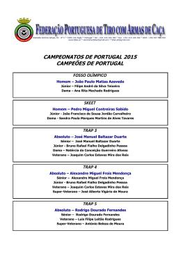 campeonatos de portugal 2015 campeões de portugal fosso olímpico