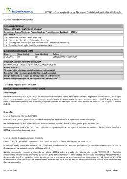 ATA 1º GTCON 2015 - Secretaria do Tesouro Nacional