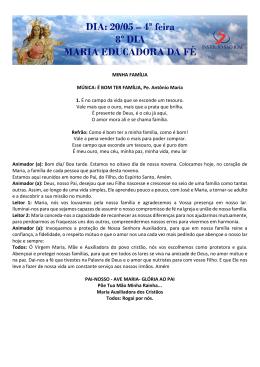 MINHA FAMÍLIA MÚSICA: É BOM TER FAMÍLIA, Pe. Antônio Maria 1