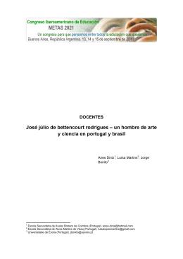 José júlio de bettencourt rodrigues – un hombre de arte y ciencia en