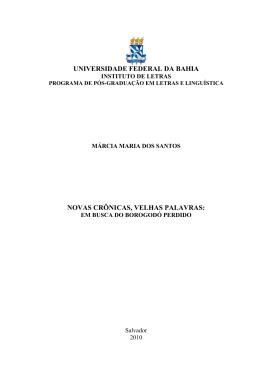 Márcia Maria dos Santos - RI UFBA