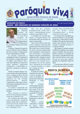 Junho 2015 – Edição 188 - Paróquia Nossa Senhora da Saúde
