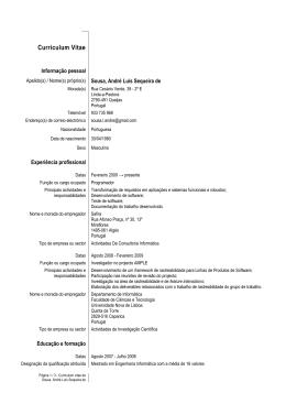 Curriculum Vitae - CITI - Universidade Nova de Lisboa