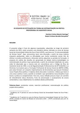 OS DESAFIOS DE EFETIVAÇÃO DA TEORIA NA - cress-mg