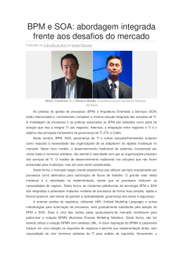 BPM e SOA: abordagem integrada frente aos desafios do mercado