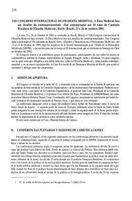 VIII CONGRESO INTERNACIONAL DE FILOSOFIA MEDIEVAL. A