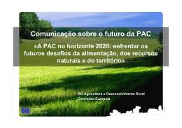 Comunicação sobre o futuro da PAC