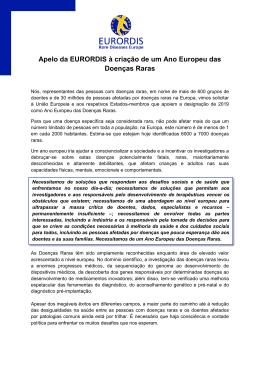 2019 o Ano Europeu das Doenças Raras