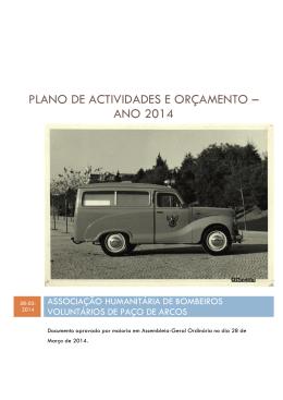 plano de actividades e orçamento – ano 2014