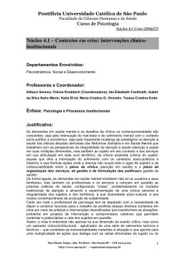 PROPOSTA DE NÚCLEOS 5º ANO 2014/2015 - PUC-SP