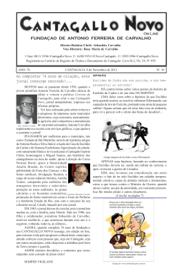 FUNDAÇAO DE ANTONIO FERREIRA DE CARVALHO Ao