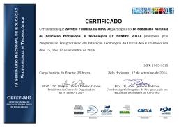 Antonio Ferreira da Silva Jr - Senept - Cefet-MG