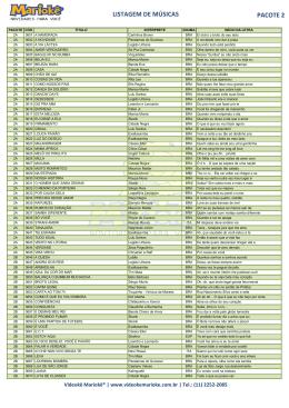 Listagem de músicas nacionais 15