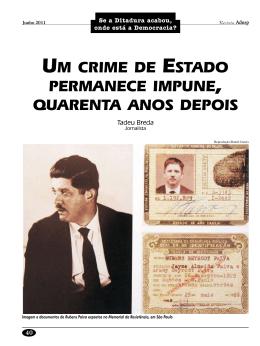 Um crime de Estado permanece impune, quarenta anos