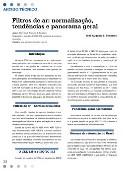 Filtros de ar: normalização, tendências e panorama geral