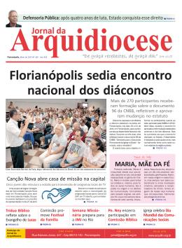 Edição 189, Ano XVII - Arquidiocese de Florianópolis/SC