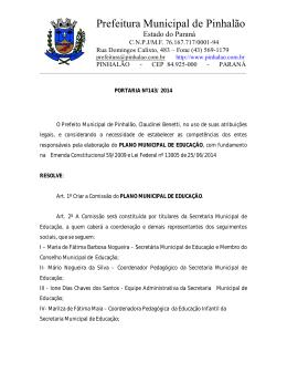 Prefeitura Municipal de Pinhalão