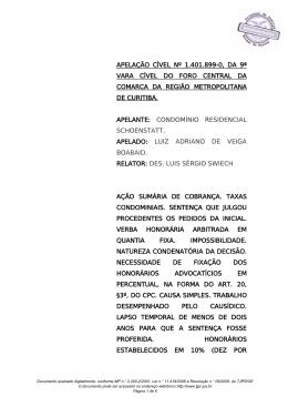 APELAÇÃO CÍVEL Nº 1.401.899-0, DA 9ª VARA CÍVEL DO FORO