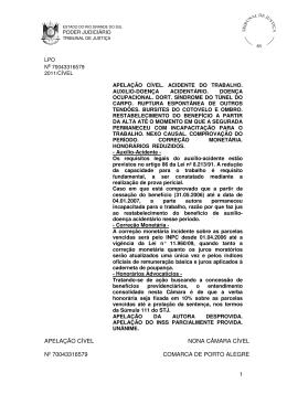 1 apelação cível nona câmara cível nº 70043316579 comarca de