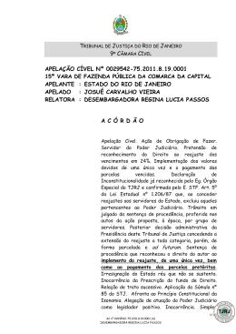 APELAÇÃO CÍVEL Nº 0029542-75.2011.8.19.0001 APELANTE