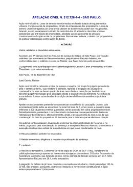 APELAÇÃO CÍVEL N. 212.726-1-4