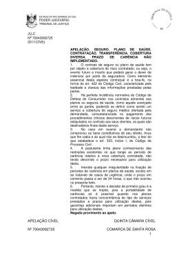 1 apelação cível quinta câmara cível nº 70043092725 comarca de