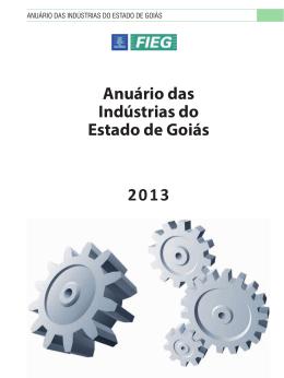 Anuário das Indústrias do Estado de Goiás