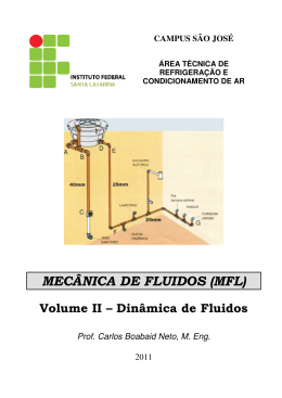 MECÂNICA DE FLUIDOS (MFL) - IF