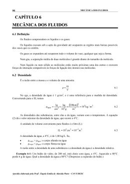 CAPÍTULO 6 MECÂNICA DOS FLUIDOS - CAV