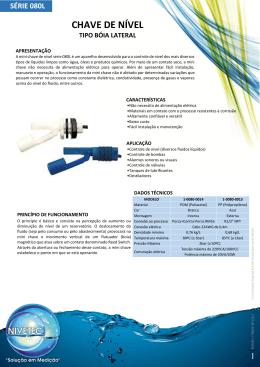 Catálogo - Série 080L - Nivetec Instrumentação e Controle