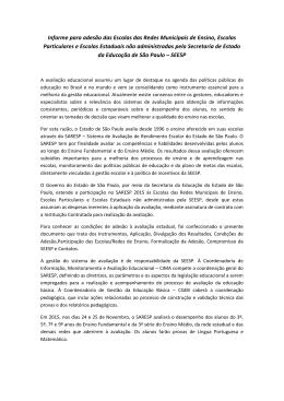 Informe para adesão das Escolas das Redes Municipais de Ensino