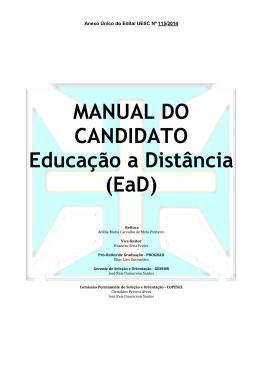 MANUAL DO CANDIDATO Educação a Distância (EaD)