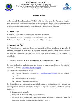 Edital de Seleção - Unifal-MG