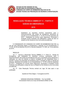 RTCBMRS nº 11 - Parte 01