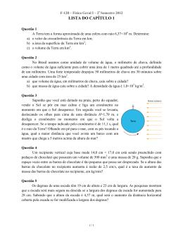 LISTA DO CAPÍTULO 1