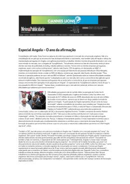 Especial Angola – O ano da afirmação