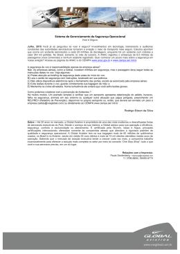 Page 1 Sistema de Gerenciamento da Segurança Operacional Voar