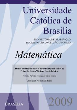 [Digite o título do documento] - Universidade Católica de Brasília