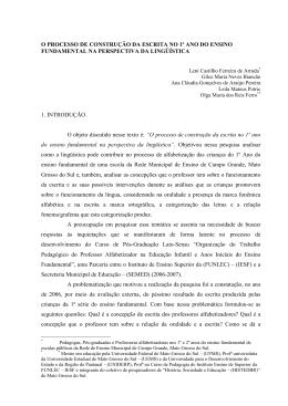 O PROCESSO DE CONSTRUÇÃO DA ESCRITA NO 1º