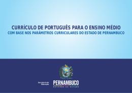 CURRÍCULO DE PORTUGUÊS Ensino Médio
