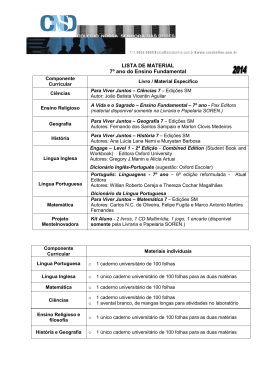 LISTA DE MATERIAL 7º ano do Ensino Fundamental