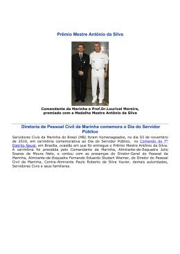 Prêmio Mestre Antônio da Silva Diretoria de Pessoal Civil da