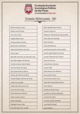 Formandos Biblioteconomia - 1984