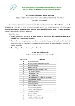 Programa de Pós-Graduação em Meio Ambiente e