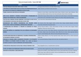Revista de Iniciação Científica – Volume 2007 2008