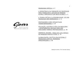 PEDAGOGIA CRÍTICA, p. 2 A IMPORTÂNCIA DA