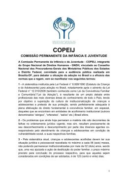 Manifesto COPEIJ - Centro de Apoio Operacional das Promotorias