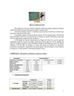 1 XI edição REGULAMENTO 2015 Descoberta em 1503 por