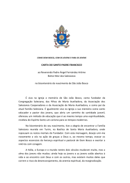 CARTA DO SANTO PADRE FRANCISCO ao Reverendo Padre